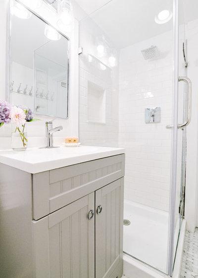 Beach Style Bathroom by Blakely Interior Design