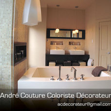 Modern Bathroom by Andre Couture Coloriste Decorateur