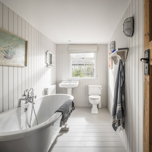 This is an example of a coastal bathroom in Sussex.