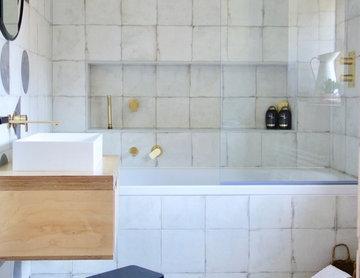 The Monochrome Family Bathroom