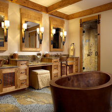 Rustic Bathroom by Zabala Erickson, LLC