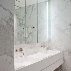 Modern Bathroom by Marcel Dion Lighting Design