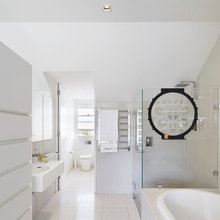 Frosted shower screens