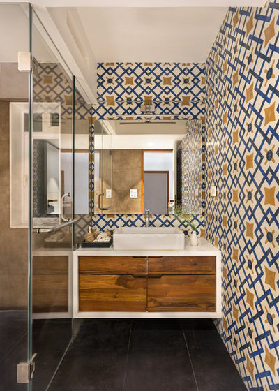 Eclectic Bathroom by Studio Nishita Kamdar