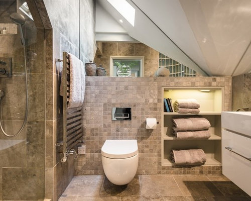 medium sized modern bathroom in other with flat panel cabinets white cabinets a