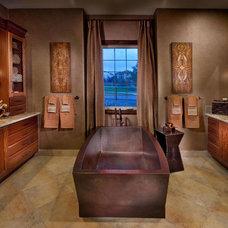 Mediterranean Bathroom by Celebrity Communities