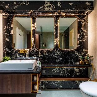 Salle de bain avec un carrelage noir Inde : Photos et idées déco de ...