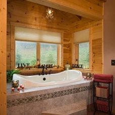 Rustic Bathroom by Log Homes of America