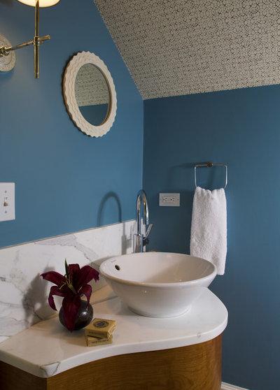 Beach Style Bathroom by SV Design