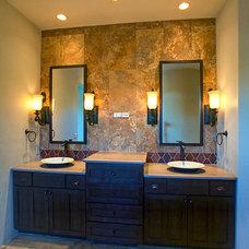 Mediterranean Bathroom by Dove Mountain Homes