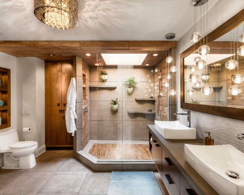 Houzz 50 best tropical bathroom pictures tropical for Huzz house