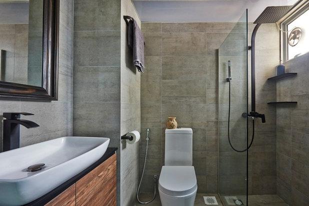 モダン 浴室 by Fuse Concept Pte Ltd