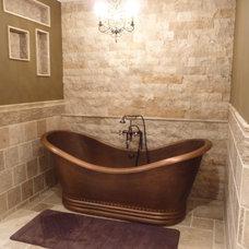 Traditional Bathroom by StoneMar Natural Stone Company LLC