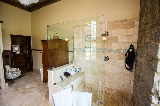 Simple Rustic Bathroom by Wilmes u Associates Architects
