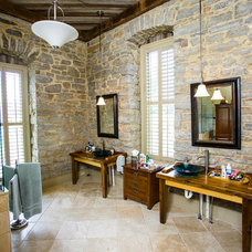 Rustic Bathroom by Wilmes & Associates Architects