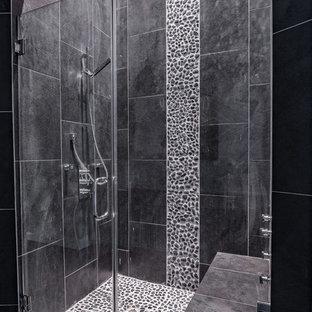 Salle de bain avec un carrelage noir Houston : Photos et idées déco ...