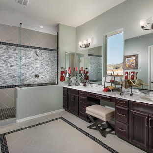 exciting dc ranch residence hallway interior design idea scottsdale az | Horizontal Tile | Houzz