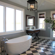 Beach Style Bathroom by Tara Bussema - Neat Organization and Design