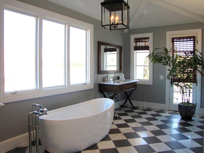 Beach Style Bathroom by Tara Bussema - Neat Organization and Design