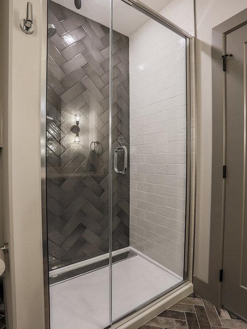 Fotos de baños | Diseños de baños modernos con suelo de ladrillo