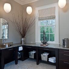 Contemporary Bathroom by Kitchens Unlimited- Karen Kassen, CMKBD