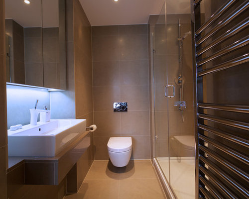 bathroom design ideas renovations photos with glass front cabinets
