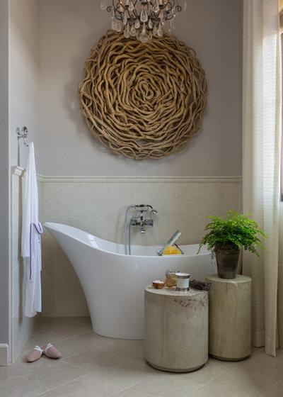 Transitional Bathroom by Cindy Smetana Interiors