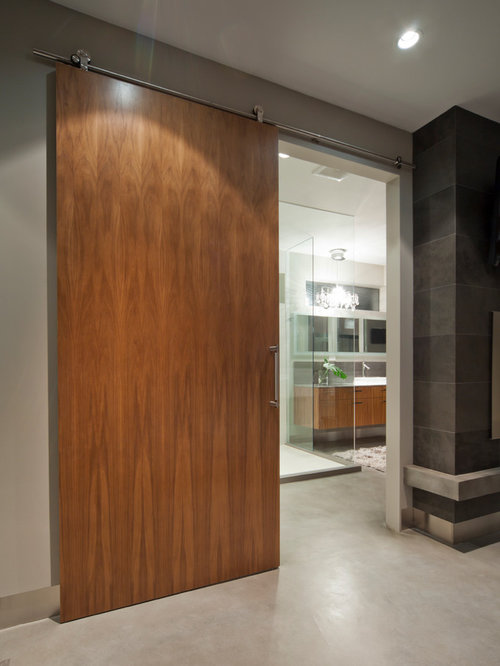Modern barn doors design ideas remodel pictures houzz for Door design houzz