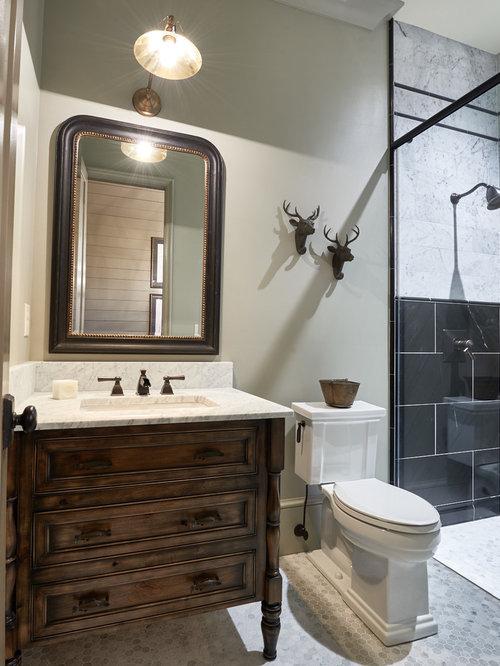 klassische badezimmer mit schwarzen fliesen ideen f r die. Black Bedroom Furniture Sets. Home Design Ideas