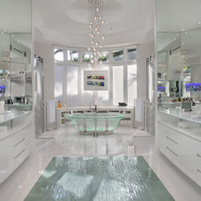 contemporary bathroom by Boca Theater and Automation