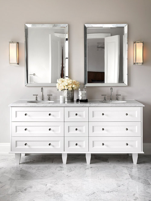 White Double Vanity Houzz