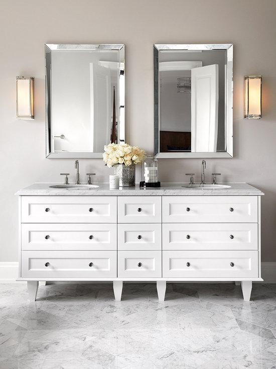 Framed Bathroom Mirrors Houzz bathroom mirrors designs