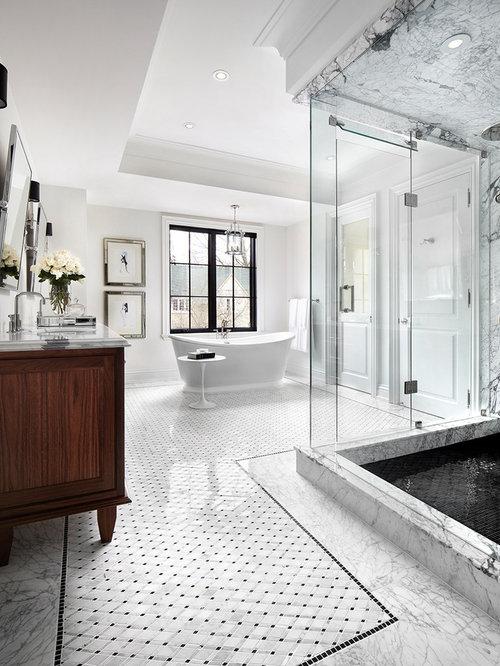 klassische badezimmer mit nasszelle: design-ideen & beispiele für, Hause ideen