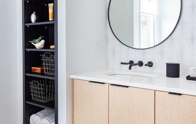 25 Clever & Stylish Bathroom Storage Ideas