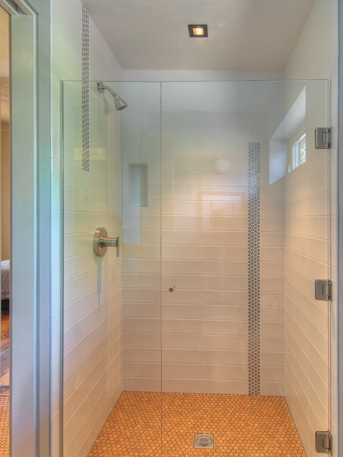 Transitional Bath Design Ideas Pictures Remodel Decor With Metal Tile
