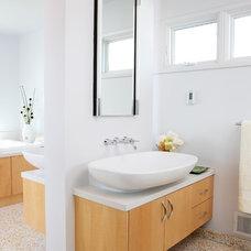 Midcentury Bathroom by ALB Designs