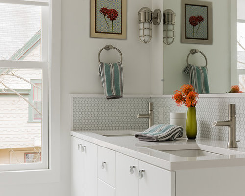 bathroom backsplash ideas houzz - Backsplash Bathroom