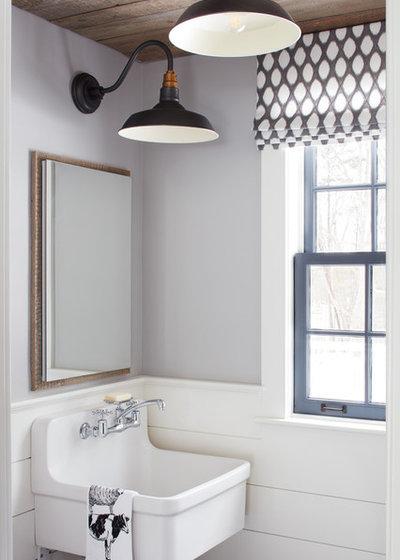 Farmhouse Bathroom by Kristina Crestin Design