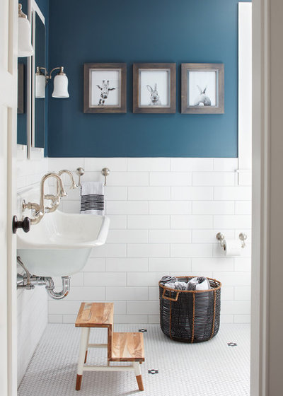 Farmhouse Bathroom by Kristina Crestin Design