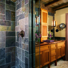 Eclectic Bathroom by Thomas Buckborough & Associates