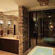 Contemporary Bathroom by Regency Custom Homes