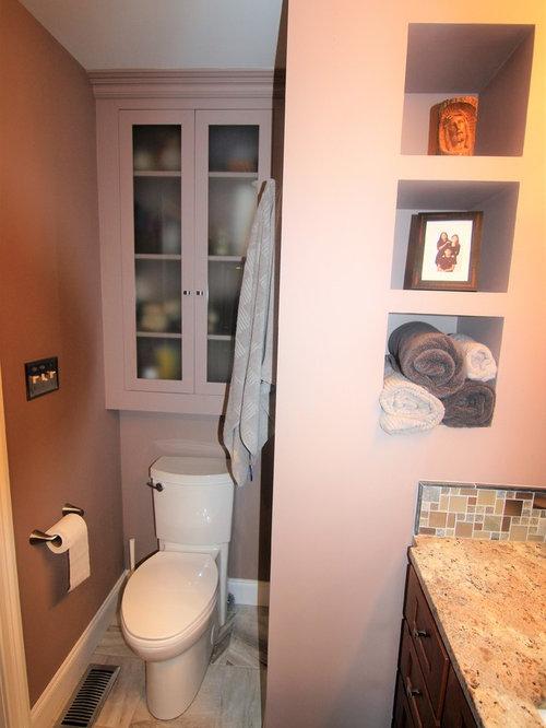 Pioneer photo storage box bathroom design ideas renovations photos with black tile - Pioneering bathroom designs ...