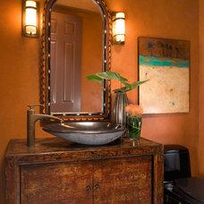 Mediterranean Bathroom by Nancy Van Natta Associates