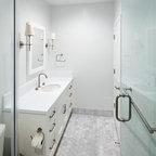 Black And White Bathroom Contemporary Bathroom New