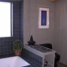 Contemporary Bathroom Tiburon Waterfront home - full remodel