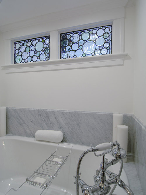 Stained glass window ideas home design ideas renovations for Modern bathroom window ideas