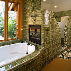 Eclectic Bathroom by Riverland Homes Inc