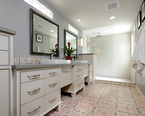 Phoenix Bathroom Design Ideas Renovations Photos With Terra Cotta Tile