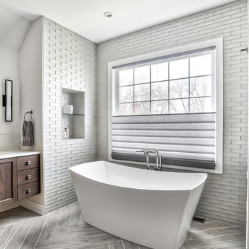 Tiled Walls and Freestanding Tub
