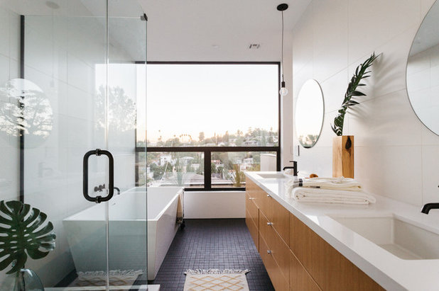 Contemporain Salle de Bain by ANX / Aaron Neubert Architects